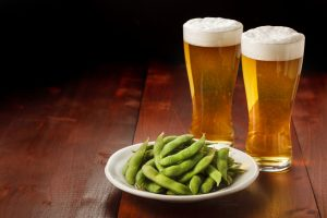 Beer and Green soy beans